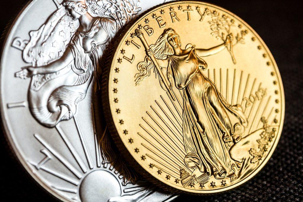 American Eagle Silber- und Goldmünze